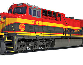 3D model Kansas City Southern Locomotive