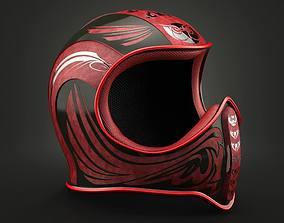 Owl Helmet Red 3D
