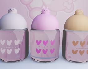Bottles x3 3D model