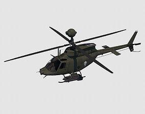 3D asset OH-58D Kiowa Warrior