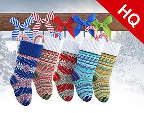 3D model socks Christmas Socks