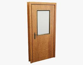 3D model Wooden Door 002