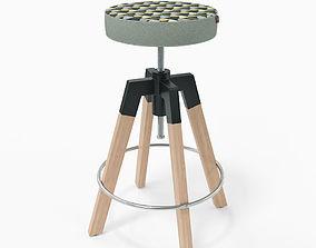 3D Bar stool SPIN SN W H
