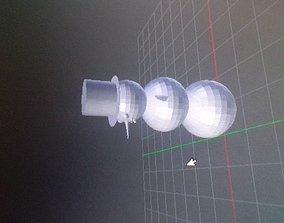 3D model VR / AR ready Snowman