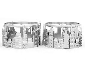 3D printable model usa Ring new york city