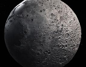Moon High Poly 3D