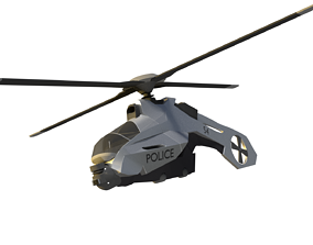 3D police helicopter
