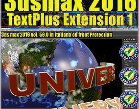 056 3ds max 2016 TextPlus vol 56 cd front corso3dsmax