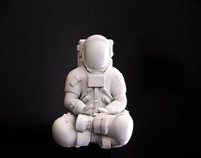 3D printable model Astronaut meditating