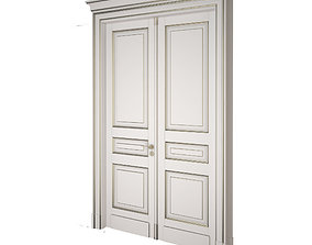 3D Classic double door with patina