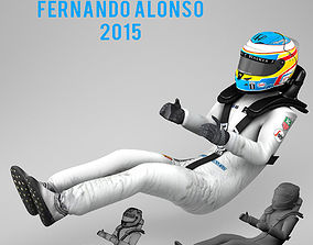 3D model Fernando Alonso 2015