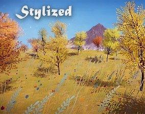 3D asset Stylized Nature Environment