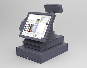 3D asset low-poly Cash register