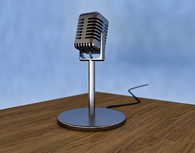 electronics 3D model low-poly microphone