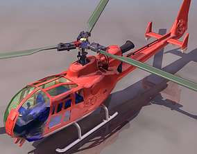 helicopter 3D asset game-ready