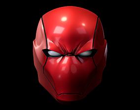Red Hood Rebirth Helmet 3D Model Printing STL OBJ