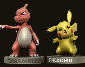 Pokemons - Pikachu and Charmeleon 3D printable model