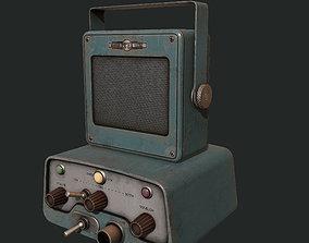 Game Ready - Vintage Police Scanner 3D asset