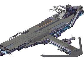 Spaceship - Catapult 01 3D model