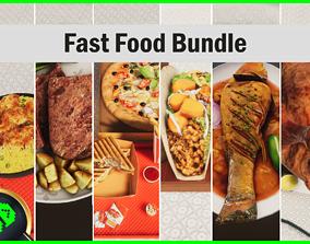 3D model Fast Food Bundle
