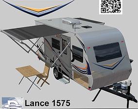 3D model animated Lance 1575 Travel Trailer