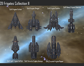 2D Frigates Collection II 3D