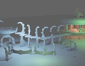3D print model space elfs terrain eldar warhammer 40k