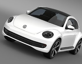 3D Volkswagen Fusca