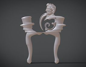 3D print model Simple Chair legs Ornament with Abraham 1