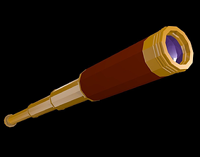 Low poly Spyglass 3D model