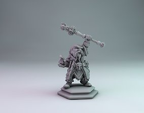 3D printable model Dwarf wizard