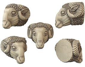 3D print model rams head