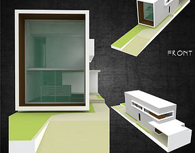 3D asset Modern residential architecture contemporary 2