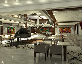 Restaurant of a Five Star Hotel 3D model