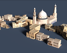 3D asset game-ready ancient arabian buildings