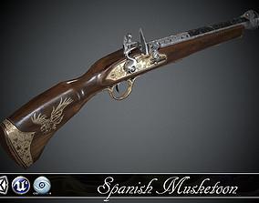 Spanish Flintlock Musketoon - model and textures 3D asset