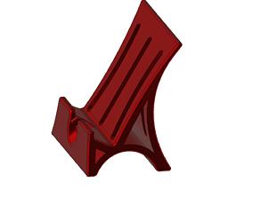 3D print model phone holder
