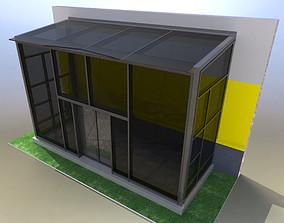 3D Entrance vestibule