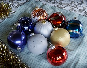 3D model New Year and Christmas decorations