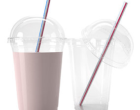 plastic cup 400ml 3D model