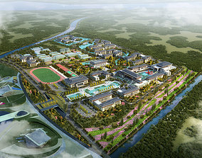 Chinese style community activity center Planning and 3D