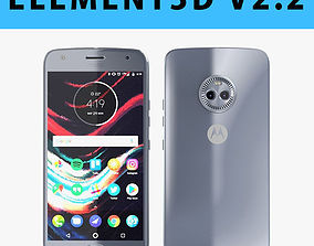E3D - Motorola Moto X4 Sterling Blue 3D