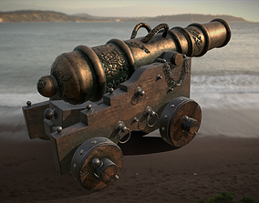 3D asset Old Naval Cannon
