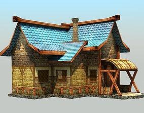 3D model Low Poly Village House