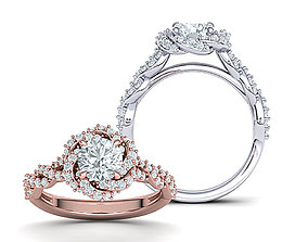 Weaving Halo Engagement ring 3dmodel usa