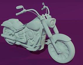 Harley Davidson - FATBOY107 3D model