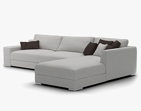Light Grey Modern Sofa 3D model