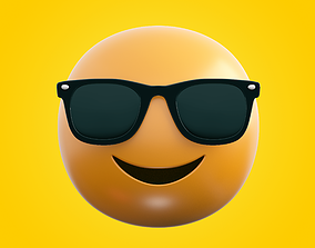 3D model realtime Emoji Sunglasses
