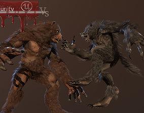 3D model WereBear vs Werewolf