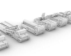 Miniature Trucks Pack 3D print model